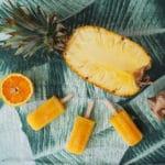 Pineapple, orange and ginger popsicles