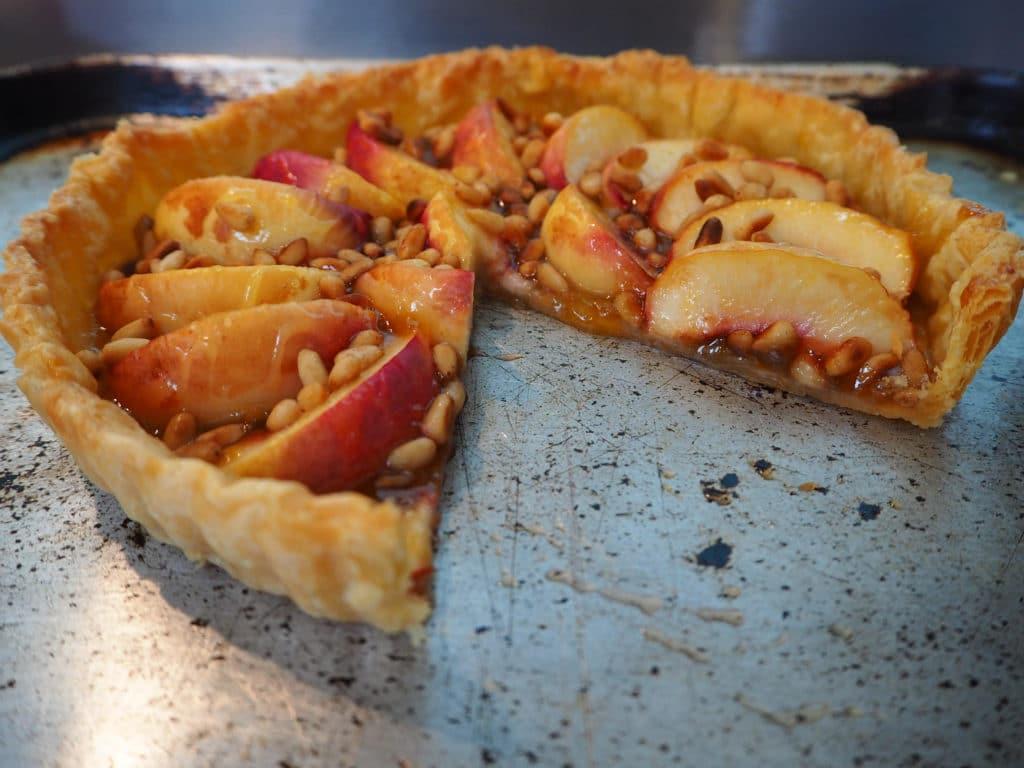 Cut open tart