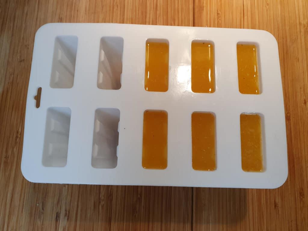 Filled popsicle moulds