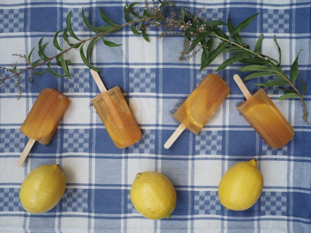 Lemon iced tea popsicles