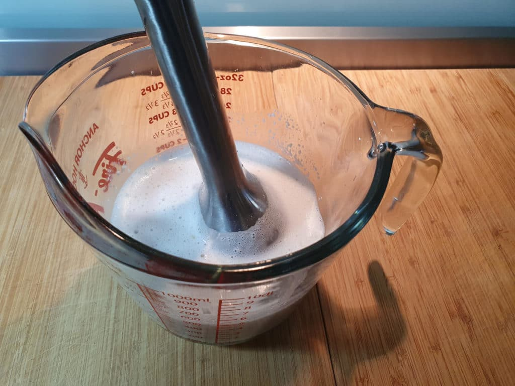 Blending cashew milk