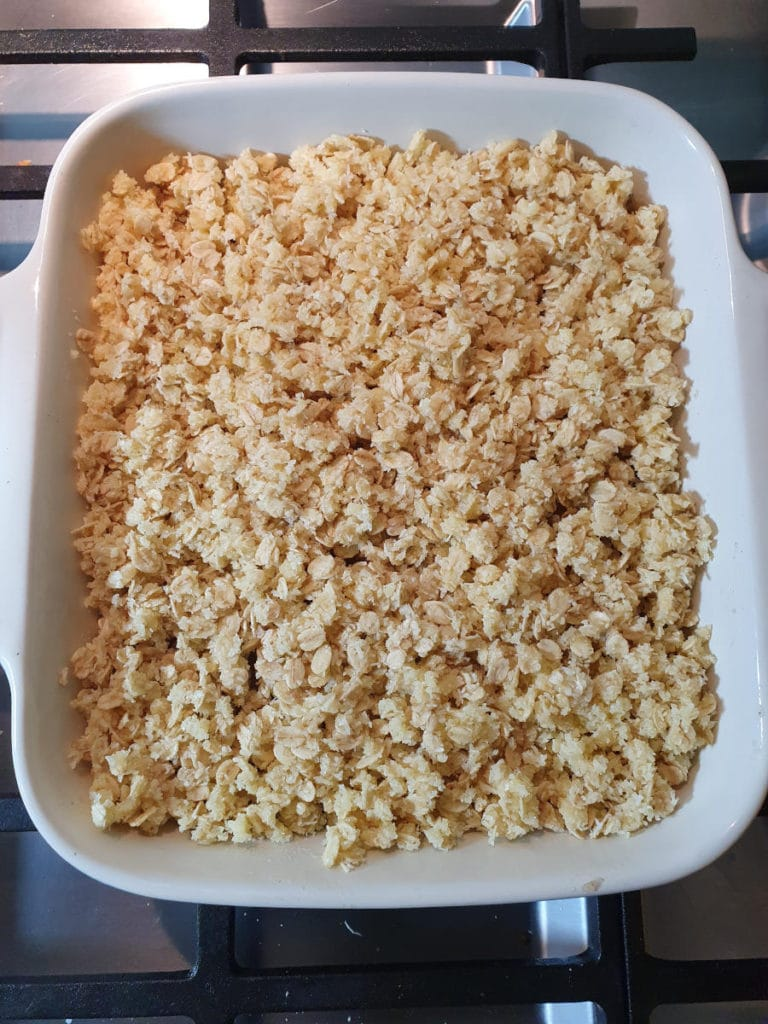 Crumble ready to bake