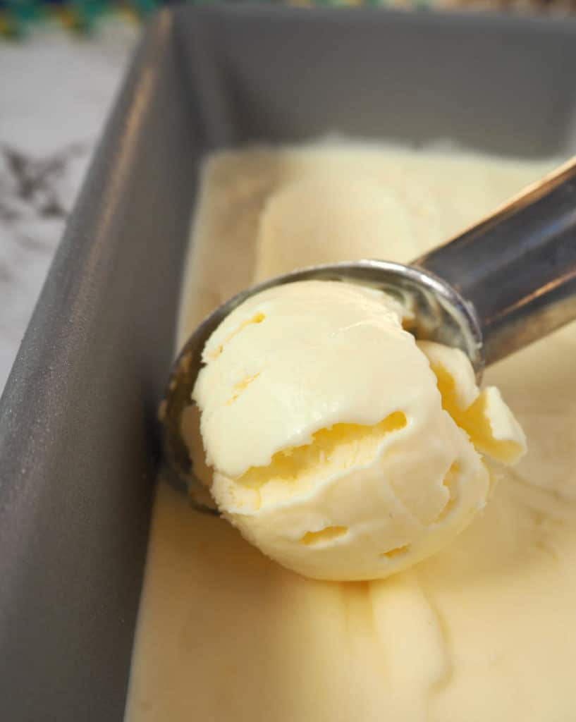 Sour cream ice cream scoop
