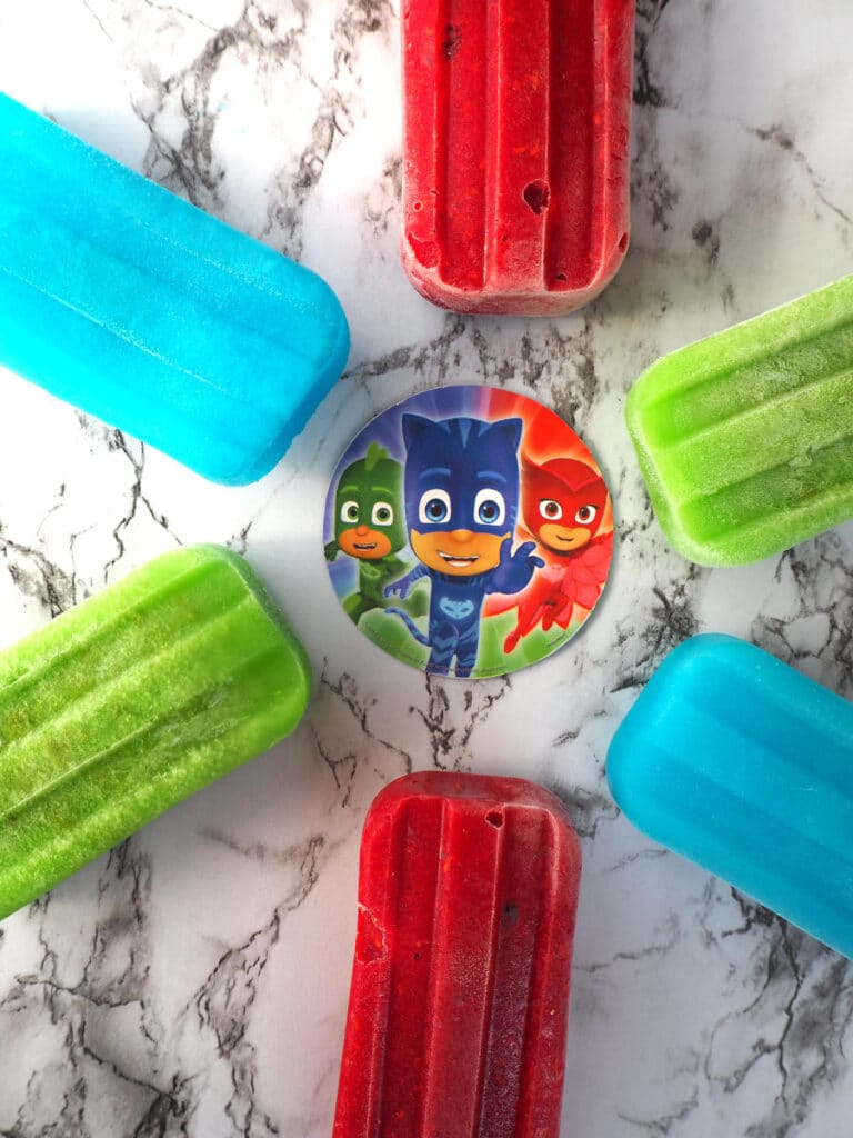 PJ Masks popsicles in a circle