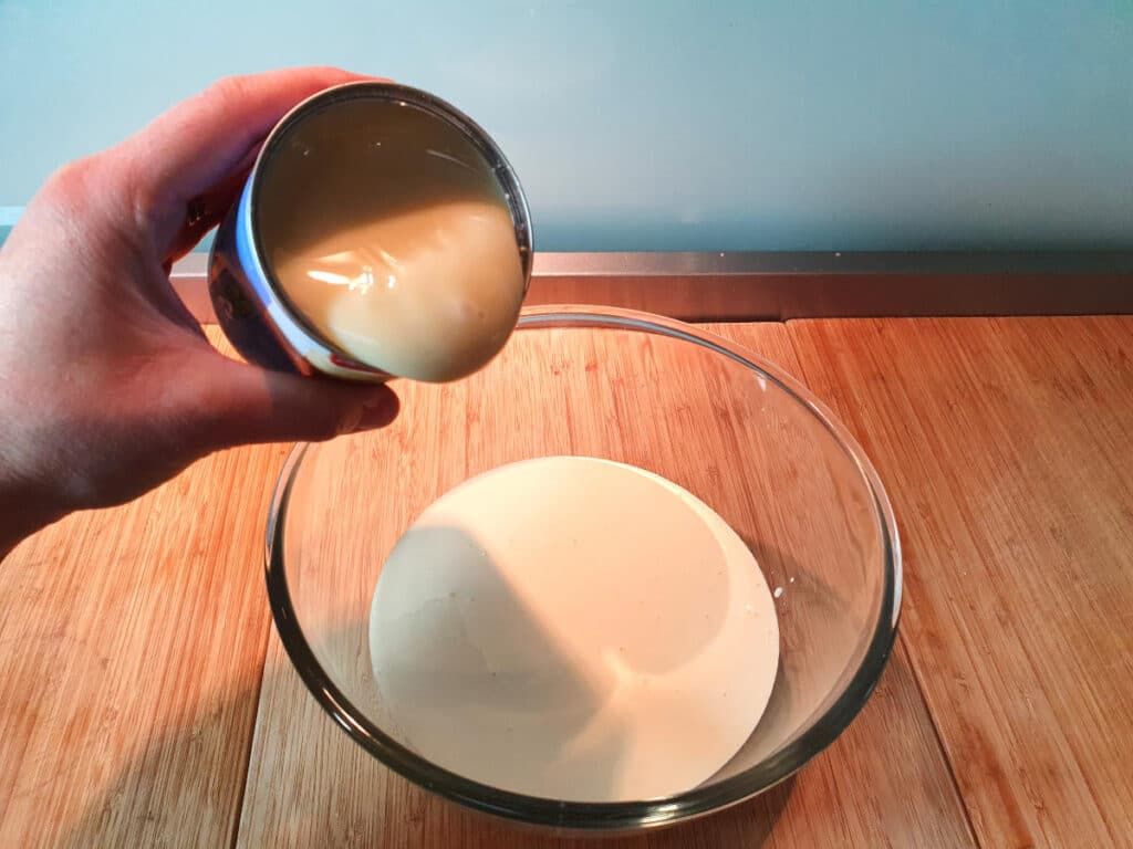 adding sweetened condensed milk