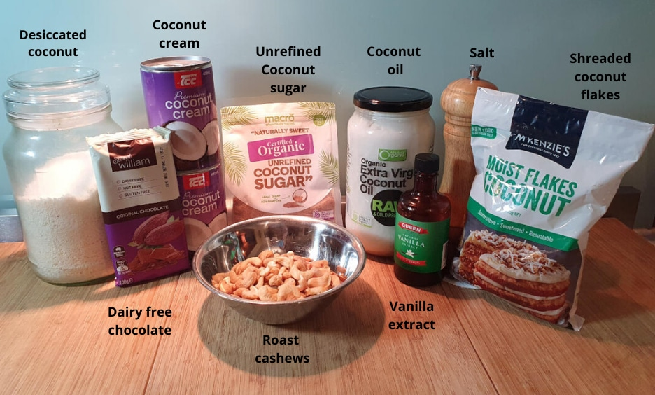 vegan bounty ice cream bites ingredients