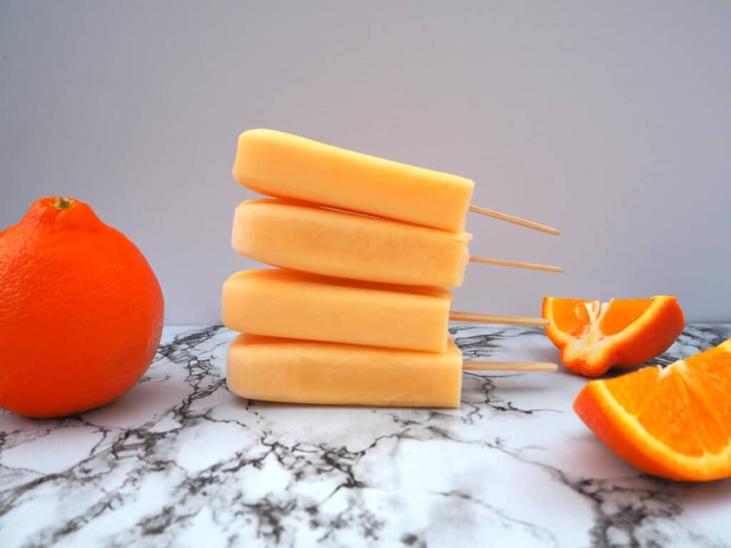 Easy tangelo creamsicles stacked
