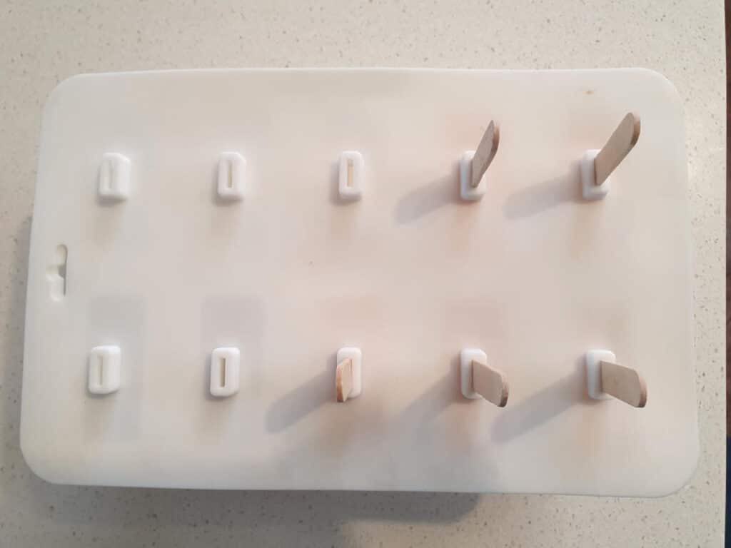 mix in moulds ready to freeze