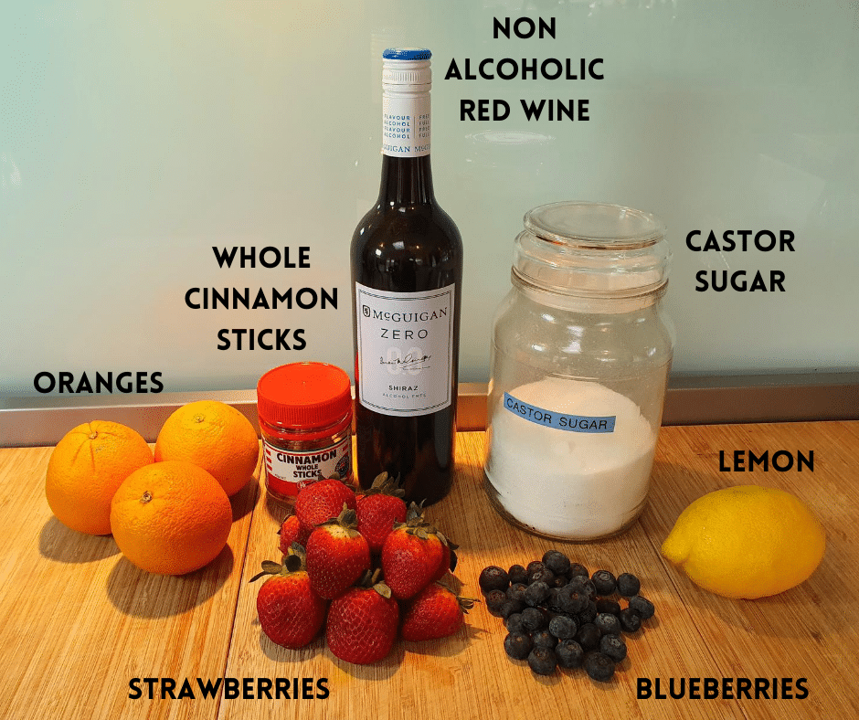 Non alcoholic sangria popsicles ingredients