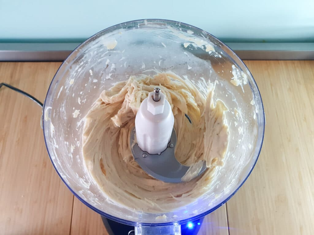 Smooth and creamy fully blended bananas.